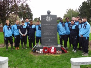 Wycombe Wanderers at the Footballers Battalion Memorial