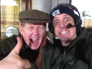 A jubilant Bill Turnbull and me at full time